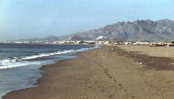 Vera Playa beach looking south