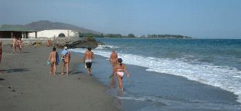 The north end of the official naturist beach at Vera Playa